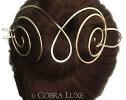 hair holder handcrafted hair accessories by cobraluxe on etsy