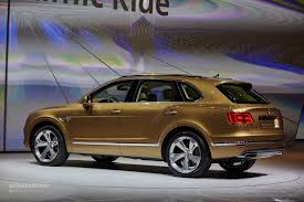 bentley coupe gold 2016 bentley bentayga makes world debut in gold at frankfurt
