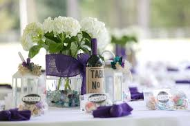 endearing image of purple wedding design and decoration using