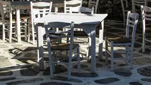 gambar meja struktur putih kursi restoran musim panas