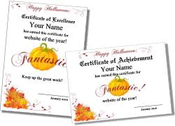 printable halloween certificates and award templates