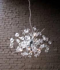 glass modern chandelier solaria large light dining room lighting