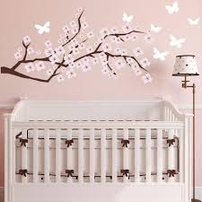 Tree Wall Decal For Nursery Cherry Blossom Wall Decal Etsy Wall Decals Nursery Wall Decals