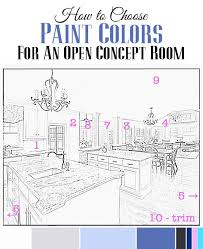 how to choose paint colors for an open concept room diy ideas