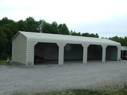 modern white nuance of the metal carport plans can be decor with