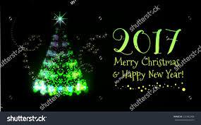 Beautiful Christmas Tree Light Vector Background Stock Vector