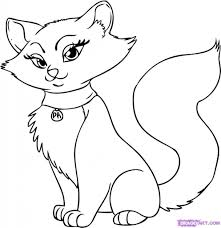 cat coloring pages printable mother cat and kittens coloring page