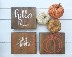 sign decor fall sign etsy
