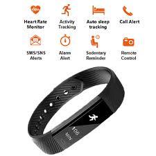activity sleep tracker bracelet images Dehwsg heart rate monitor smart bracelet id115 hr activity fitness jpg