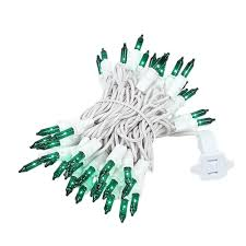 green mini light set 50 light white wire 11