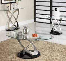 homelegance firth 3 piece occasional tables set in chrome u0026 black