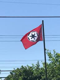 My National Flag My Neighbor Proudly Displays His Imperial Flag