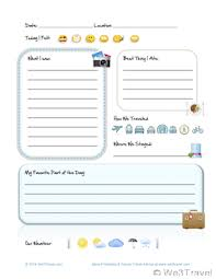 Printable Vacation Journal Pages | free kid travel journal printable travel journal for kids kids