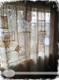 Sewing Drapery Panels Together Love These Curtains Made With Various Pieces Of Lace Zigzag
