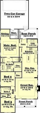 narrow house floor plans narrow lot roomy feel hwbdo75757 tidewater house plan from