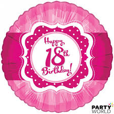 balloons for 18th birthday perfectly pink happy 18th birthday foil balloon 18