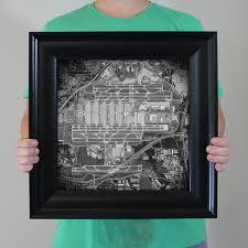 Hartsfield Jackson Atlanta International Airport Map by Hartsfield Jackson Atlanta International Airport Unframed