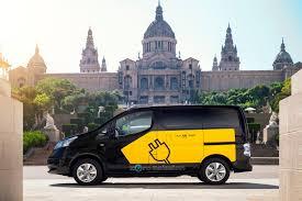 nissan nv200 taxi 2014 nissan e nv200 electric barcelona taxi conceptcarz com