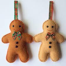 gingerbread man decorations crafts handmade felt sewjunejones