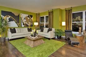 interior heavenly image of green living room decoration using