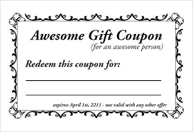 gift coupons template custom gift certificate templates for