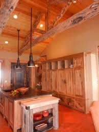 exterior simple reclaimed wood kitchen cabinets in old style