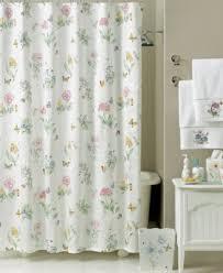 Shower Curtain Matching Window Curtain Set Lenox Bath Accessories Butterfly Meadow Shower Curtain Bathroom