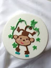 monkey cake topper monkey cake topper 2d edible image figure fondant baby cake