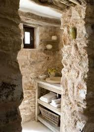 rock wall natural uneven wall tile stone bathroom ideas cool