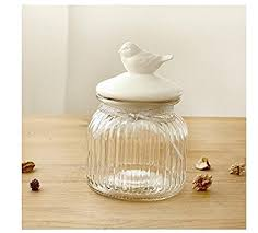 kitchen storage canister bird small glass food storage canister kitchen