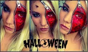 Eye Halloween Makeup by Zipper Face Halloween Makeup Youtube