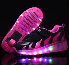 heelys light up shoes kids retractable wheel heelys skate trainers shoes boys girls led