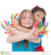 children with paint stock photo image 29249730