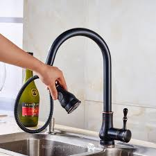 black pull out kitchen faucet aliexpress buy rubbed bronze pull out spray kitchen