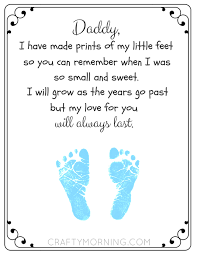 free printable father u0027s day footprint poem crafty morning