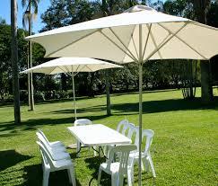 White Patio Umbrella Attractive Outdoor Living Exterior Design Feat Two Blue Vintage