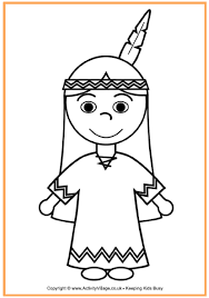 native american coloring thanksgiving coloring pages