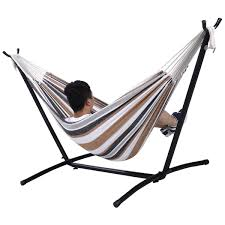 double hammock with steel stand and carry bag hammocks outdoor