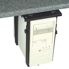 Under Desk Cpu Mount Mead Hatcher Underdesk Cpu Holder By Office Depot U0026 Officemax