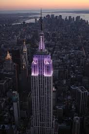 empire state building lights tonight empire state building lights purple for 2013 world prematurity day