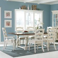Pine Dining Room Set by Hillsdale Pine Island 7 Piece Trestle Dining Table Set With Ladder