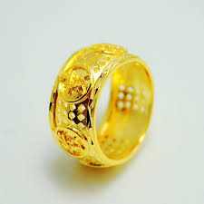 aliexpress buy new arrival fashion rings for men oversize 24k gold filled 1 1 best quality hongkong gold shop
