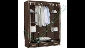 review woltu portable clothes closet wardrobe coffee youtube
