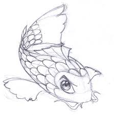 drawn koi fish baby pencil and in color drawn koi fish baby