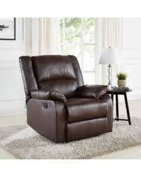 abbyson living bradford faux leather reclining sofa don t miss this bargain mainstays faux leather recliner brown