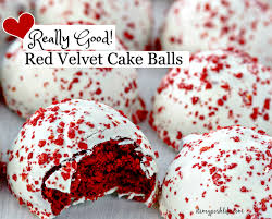 these are really good red velvet cake balls
