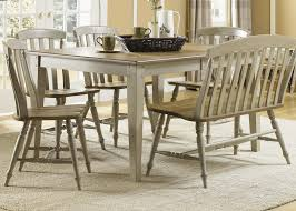 Bench For Dining Room by Six Piece Dining Table Set With Chairs And Bench By Liberty