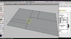 Standard Measurement Of House Plan by How To Start A Architectural Floorplan In Google Sketchup Youtube