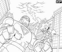 fight thor giant coloring printable game