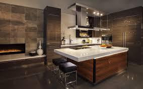 kitchen luxury kitchen design with brown wooden cabinet and